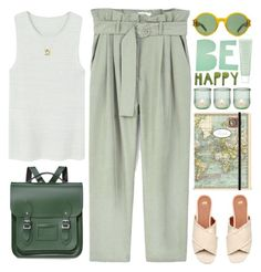 """Be happy!"" by doga1 ❤ liked on Polyvore featuring MANGO, The Cambridge Satchel Company, Cavallini & Co., MABEL, Cultural Intrigue, Yves Saint Laurent, Aime and Sisley"