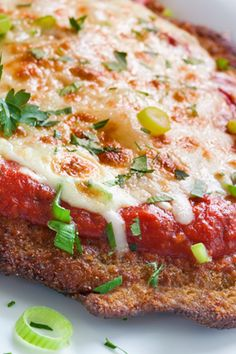 Chicken Parmesan - Italian American classic,doesn't take all day to prepare,making it a perfect dish for entertaining