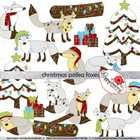 Christmas Polka Foxes Clipart by Poppydreamz includes: Ten winter foxes, 2 trees, 2 logs, and 2 sets of gifts. $