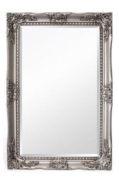 Silberner Shabby Chic Spiegel - Massivholz - Handgefertigt - Barock - Groß - 120 x 80 cm - Silber, 154,00 Euro + GRATIS Lieferung, Amazon.de