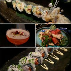 """""""Spider"""" Soft Shell Crab #Sushi Roll, #Duck & #Honey Melon #Salad, Snow Crab #Sushi Roll & #Cocktail - seems Angela chose wisely from our menu! Thanks for posting #fab pic @Twitter Inc.!"""