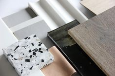 An authentic materials palette for an exciting new multi residential project we are working on! Taking cues from the architecture to create a sculptural and textural interior #interiordesign #melbournedesign #multires #mimdesign #authentic