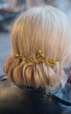 Chignon with star bobby pins