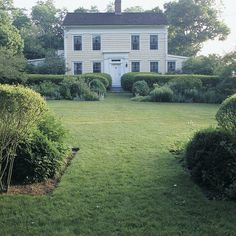 Use paths, hedges, and focal points to create a garden of narrow, formal vistas