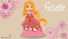 Giselle in princess way A. Mucha No-Disney Young Princess ~ Giselle (version Disney Pixar, Walt Disney, All Disney Princesses, Pocket Princesses, Disney Films, Disney Fan Art, Cute Disney, Disney Dream, Disney And Dreamworks