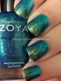 Zoya Nail Polish in Charla and Logan gradient!