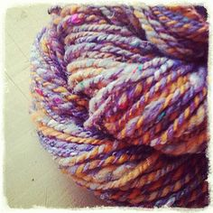 Hand spun ~ winter sunrise by Wren House Yarns