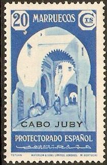 Cape Juby 1939 20c Light blue. SG108. - Click Image to Close