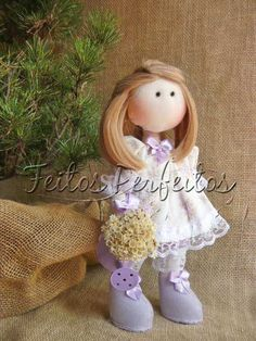 Tilda By Feitos Perfeitos: Boneca Lilás