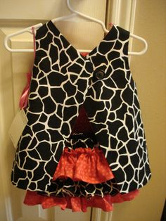 Reversible Zebra or Giraffe Sun Dress with by nanashousecreations, $49.99