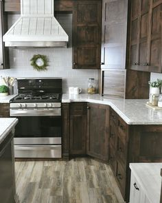 Dark grey kitchen cabinets - 65 Brilliant Kitchen Cabinet Organization and Tips Ideas – Dark grey kitchen cabinets Grey Kitchen Cabinets, Dark Grey Kitchen, Brown Kitchen Cabinets, Stained Kitchen Cabinets, Kitchen Decor, Rustic Kitchen, New Kitchen Cabinets, Kitchen Renovation, Kitchen Design