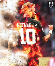 Neymar jr - On fire . Neymar Football, Messi Soccer, Football Boys, Solo Soccer, Soccer Tips, Nike Soccer, Soccer Cleats, Lionel Messi Wallpapers, Cristiano Ronaldo Wallpapers