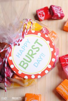 Quick Easy Birthday Gift Starburst Tags
