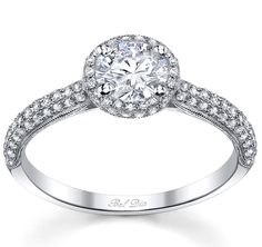 double halo engagement ring, so cute! <3<3