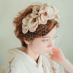 Fascinator, Wedding Hairstyles, Thats Not My, Kimono, Hair Accessories, Hair Styles, Fashion, Hair Plait Styles, Moda