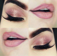 maquiagem em tons rosado