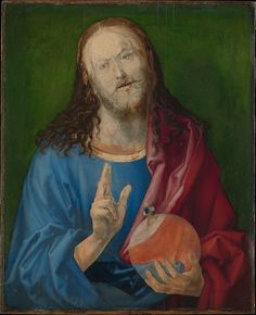 """Albrecht Dürer (German, Nuremberg 1471–1528 Nuremberg). Salvator Mundi, ca. 1505. The Metropolitan Museum of Art, New York. The Friedsam Collection, Bequest of Michael Friedsam, 1931(32.100.64) 