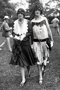 What We Wore: Centuries of Peacocking in NYC -- The Cut  1926 Two flappers arriving at Belmont Park on Long Island for the horse races. Photograph by Underwood Archives/Getty Images