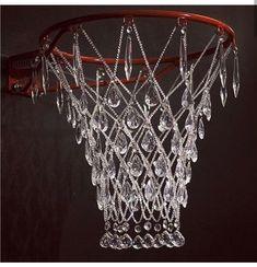 Basketball rim hardware crystal glass brass & nylon line. Basketball Rim, Basketball Tricks, Basketball Crafts, Basketball Decorations, Basketball Videos, Street Basketball, Basketball Workouts, Basketball Birthday, Basketball Pictures