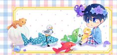 Free! Iwatobi Swim Club, haruka nanase, haru nanase, haru, nanase, free!, iwatobi, plush butterfly, plush pinguin, plush shark, plush whale shark, plush duck, plush otter, plush orca, plush killer whale