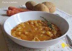 Pasta e patate (ricetta vegetariana). Ricetta facile ed economica per un primo buono e vegetariano, con i consigli per una pasta e patate densa e cremosa