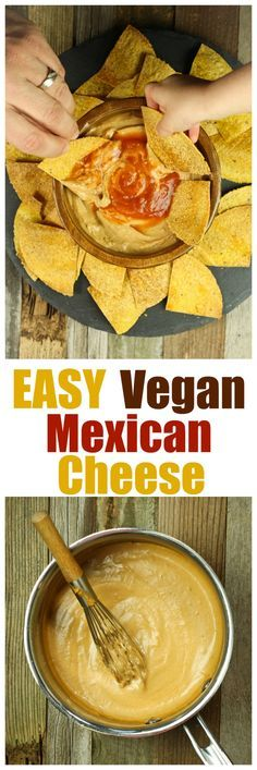 RAVE REVIEWS by every reader! ONLY 6 ingredients and 10 minutes is all  you need to make this  Easy Vegan Mexican Cheese Sauce! Goes amazing on tacos, burritos or just as a dip. Healthy and oil-free! #cashew