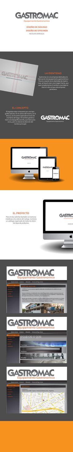 Isologotipo y Sitio web para Gastromac.