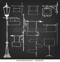 Find Street Signs Empty Signs Sketch Empty stock images in HD and millions of other royalty-free stock photos, illustrations and vectors in the Shutterstock collection. Lantern Drawing, Chalkboard Signs, Chalkboards, Painted Cupboards, Chalk Wall, Stop Light, Street Lamp, Street Signs, Scrapbook Albums