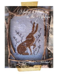Cross Stitch Pattern Winter Hare in the by GoodfloraStitchwort