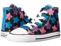 Converse Kids Chuck Taylor® All Star® Animal Color Hi (Infant/Toddler) Cyan Space/Black/Dahlia Pink - Zappos.com Free Shipping BOTH Ways