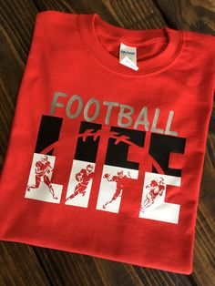 """Obtain wonderful tips on """"custom t shirts"""". They are offered for you on our internet site. Sports Mom Shirts, Football Mom Shirts, Cheer Shirts, Boys T Shirts, Football Clothing, 49ers Shirts, Custom Football, School Spirit Wear, School Spirit Shirts"""
