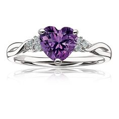 Amethyst jewelry shines a striking & charming purple hue. The amethyst gemstone is also the February birthstone. February's amethyst is said to bring clarity to emotions, feelings & values to the wearer. Purple Rings, Purple Jewelry, Amethyst Jewelry, Birthstone Jewelry, Silver Jewelry, Silver Ring, Amethyst Stone, Amethyst And Diamond Ring, Purple Diamond