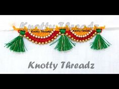 How to make Crochet / Krosha Saree Tassels Using Beads at Home | Tutorial | Knotty Threadz !! - YouTube
