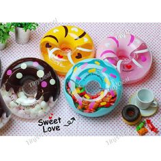 Doughnut Shaped Candy Case Candy Box Holder Container - Color Assorted HKI-204772