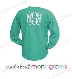 Monogrammed Spirit Prep Jersey Shirt GLITTER by MadAboutMonograms
