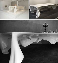 Invisible Dining Table: Legless Tablecloth Floats Like a Ghost