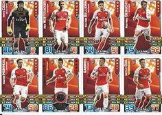 Match Attax 2015/2016 Arsenal Team Base Set Plus Star Player, Captain & Away Kit Cards 15/16 #wilshere #walcott #afc