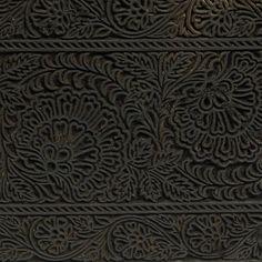 TEXTILE PRINTING BLOCK BENARES, INDIA 20TH C. CARVED WOOD