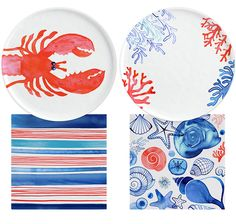 Margaret Berg Art: Lobster+&+Shells+Dinnerware