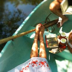 A sundress, a good book and my sweetheart. Add a row boat and picnic lunch (and a hat, of course) and I'm on cloud nine. Summer Of Love, Summer Days, Summer Time, Summer Sun, Summer Glow, Summer Breeze, Summer Colors, Spring Summer, Sunday Readings