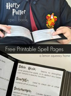 Harry Potter Printable Spells // a lemon squeezy home