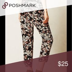 Anthropologie Cartonnier Silky Joggers Size 2 Nassella joggers from Cartonnier. Great used condition! 2 button closure at waist missing 1 button. Anthropologie Pants Ankle & Cropped
