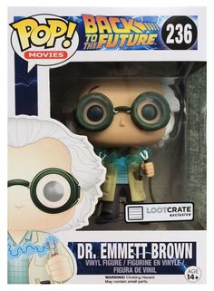 Funko POP -- Loot Crate Exclusive -- Dr. Emmett Brown