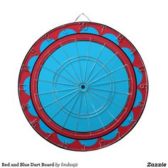 Red and Blue Dart Board