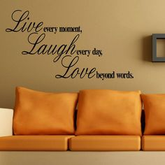 Large Bedroom Quote Live Laugh Love Beyond 100cmx55cm Wall Art Sticker Decal | eBay