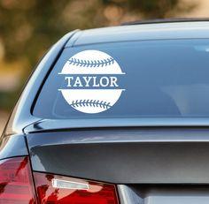 Baseball Decal, Personalized Baseball Decal, Baseball Car Decal, Softball Decal, Personalized Softball Decal, Laptop Sticker, Laptop Decal, Softball Sticker, Baseball Sticker, Baseball Fundraiser, Baseball Fundraising, Softball Fundraiser, Softball Fundraising by DesignsByTenisha