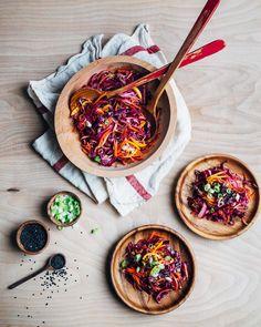 kumquat and red cabbage pressed salad // brooklyn supper