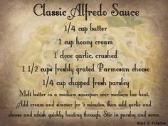 Alfredo sauce – made this and it was restaurant quality. The key is minding the heat on the pot. Alfredo sauce – made this and it was restaurant quality. The key is minding the heat on the pot. Homemade Alfredo, Alfredo Recipe, Homemade Sauce, Home Made Alfredo Sauce, Keto Alfredo Sauce, Bechamel Sauce, Italian Dishes, Italian Recipes, New Recipes