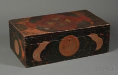 Paint Decorated Pine Box | Sale Number 2396, Lot Number 962 | Skinner Auctioneers