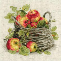 "Ripe Apples Counted Cross Stitch Kit-11.75""X11.75"" 10 Count"